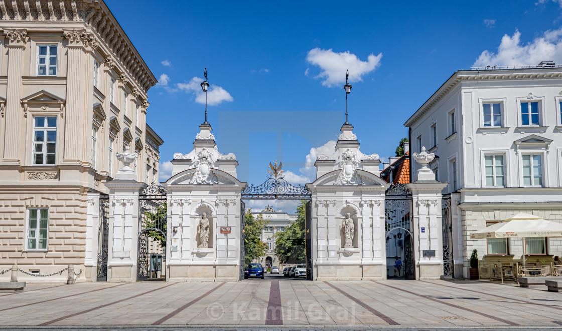 """University of Warsaw Gate"" stock image"