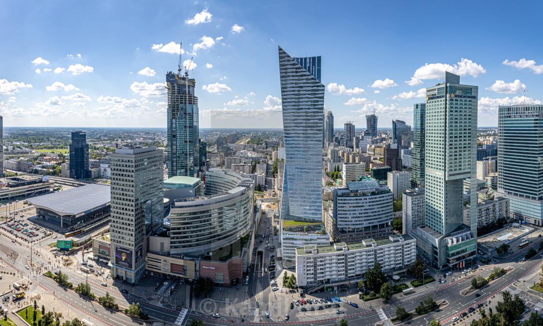 """""""Warsaw Panorama"""" stock image"""