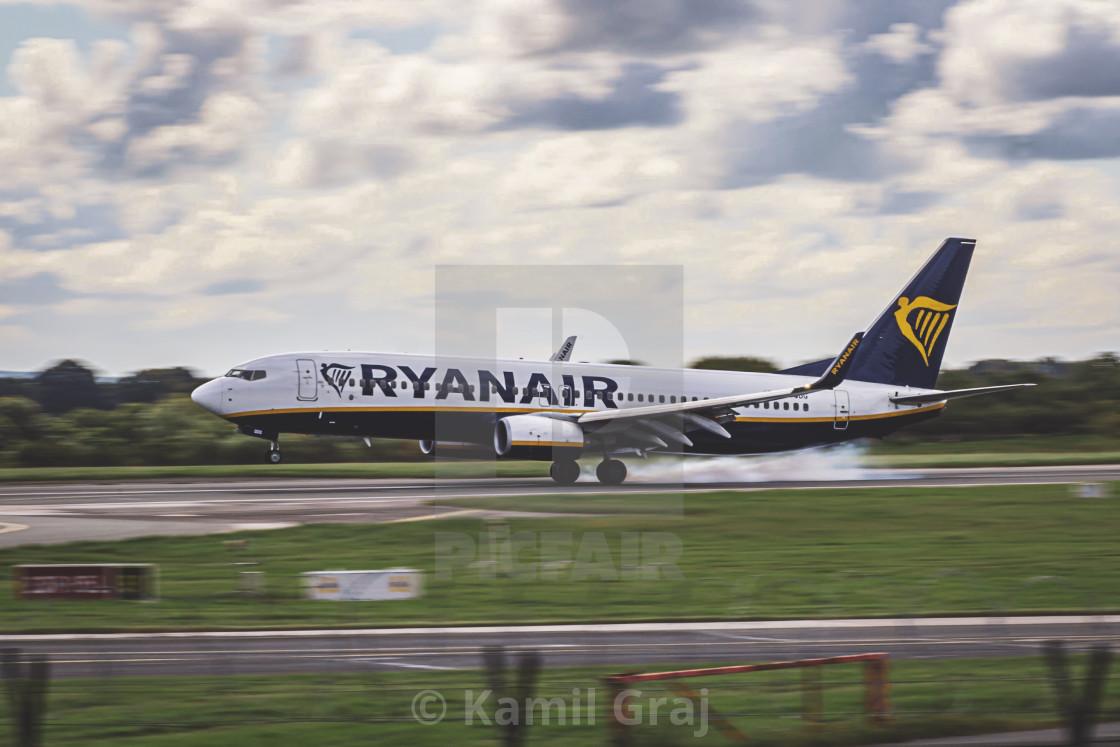 """""""Airplane landing"""" stock image"""
