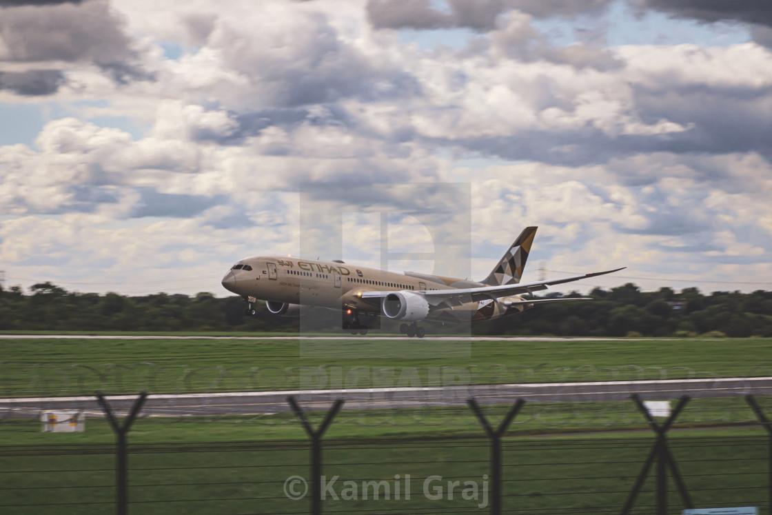 """""""Plane landing"""" stock image"""