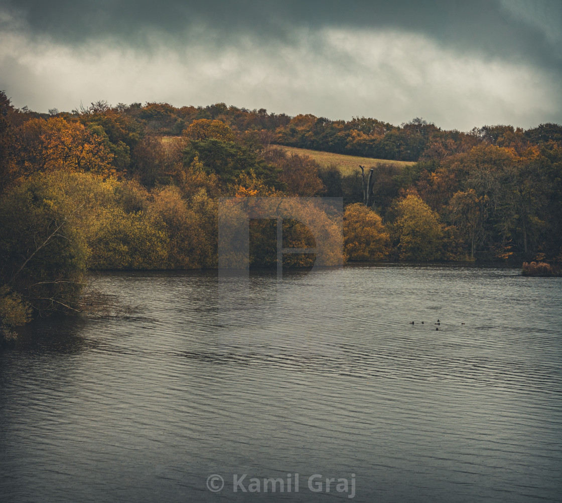 """Knypersley Reservoir"" stock image"