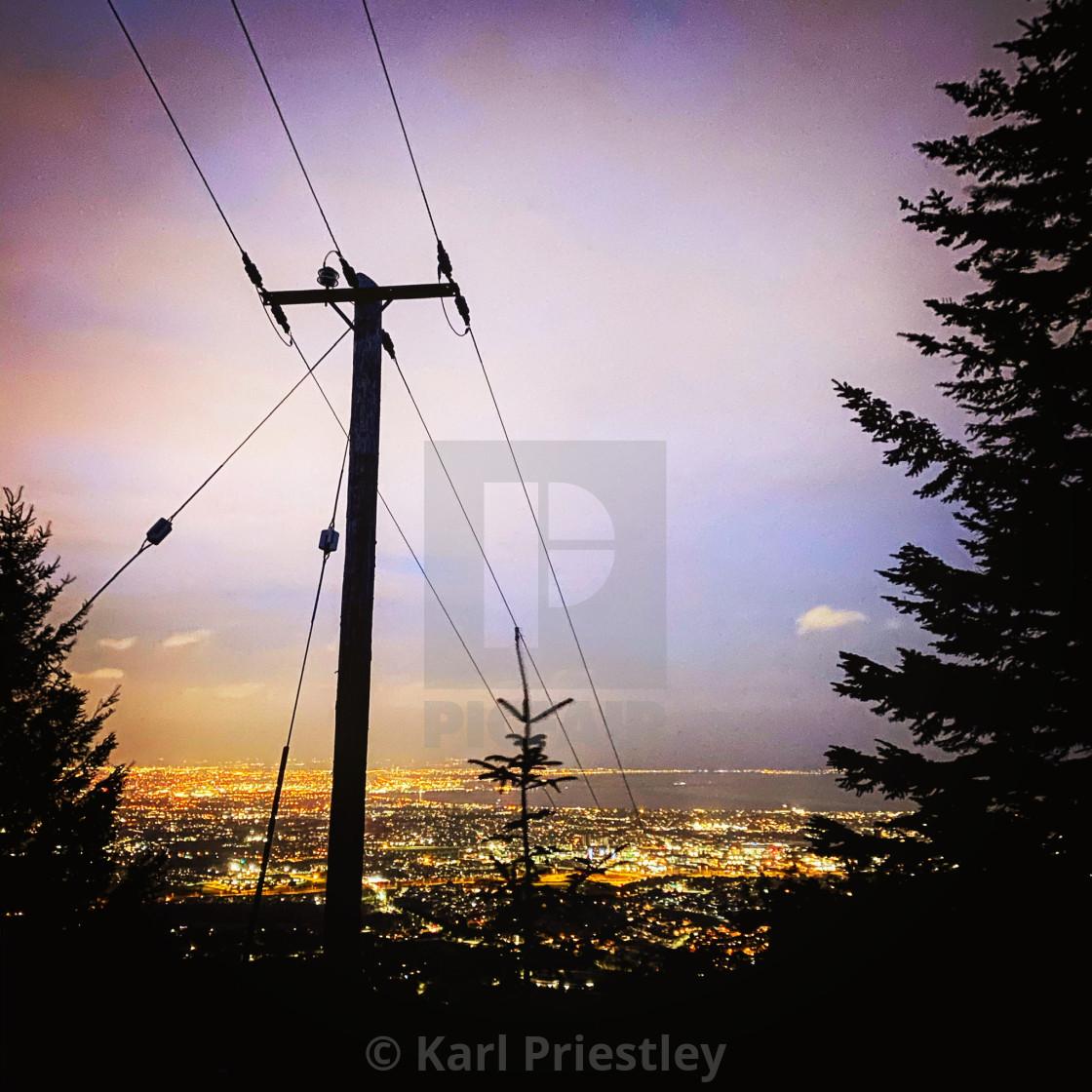"""City of Blinding Lights"" stock image"