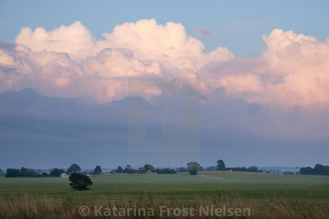 """""""cloudy sky before sunset"""" stock image"""
