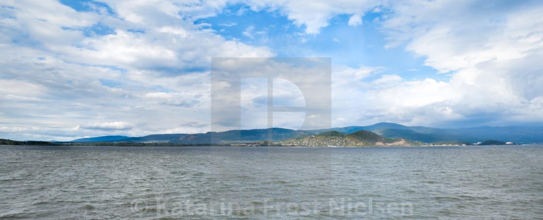 """Lake view - panorama"" stock image"