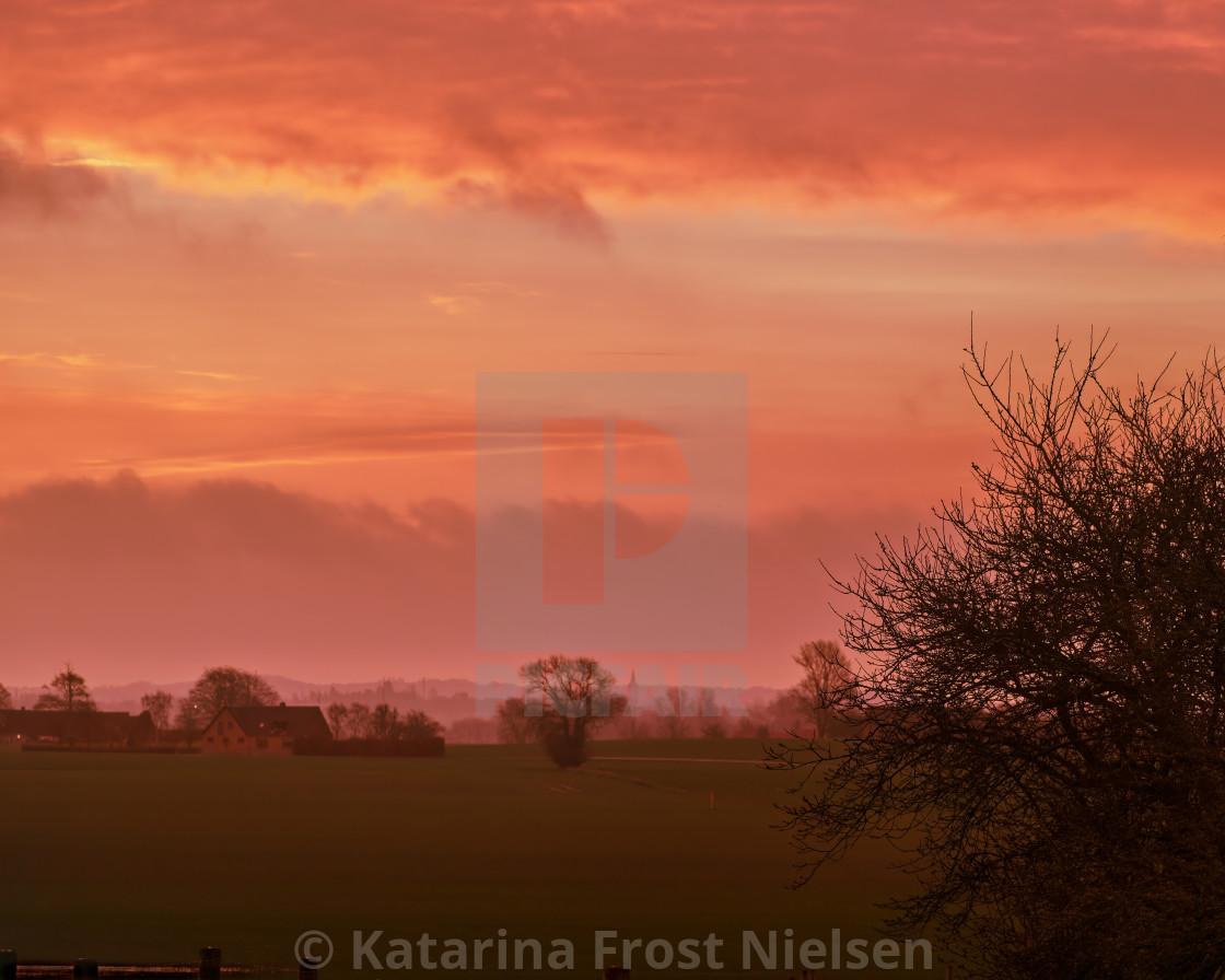 """Beautiful sunrise landscape"" stock image"