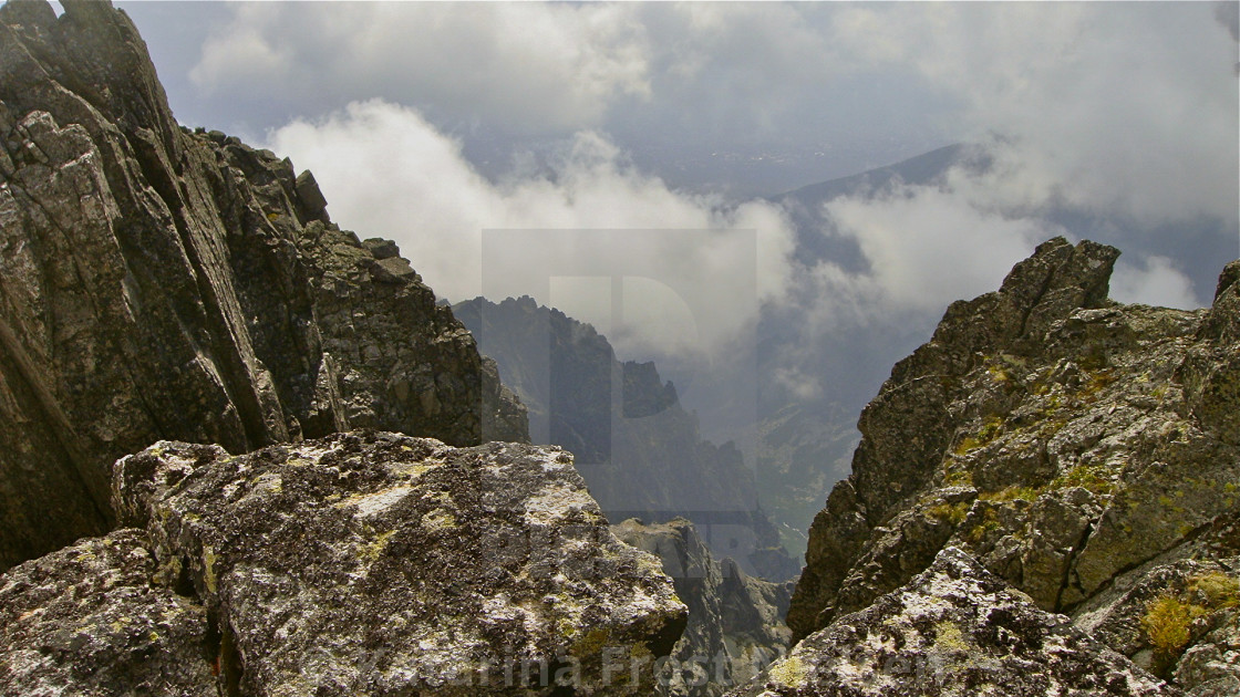 """""""Cloudy mountains"""" stock image"""