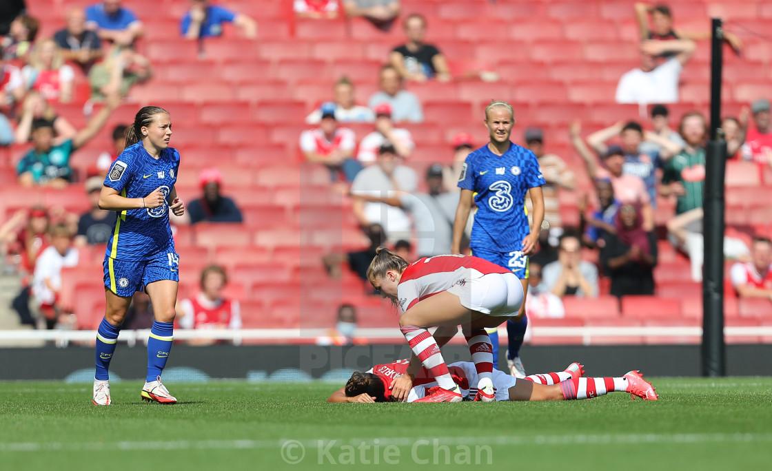 """Arsenal Women v Chelsea Women - FA Women Super League - 05/09/2021"" stock image"