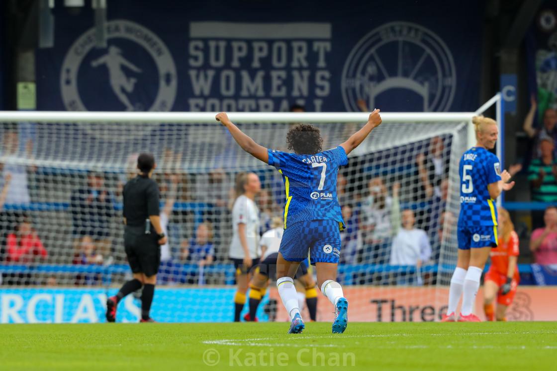 """Chelsea Women v Everton Women - FA Women Super League - 12/09/2021"" stock image"