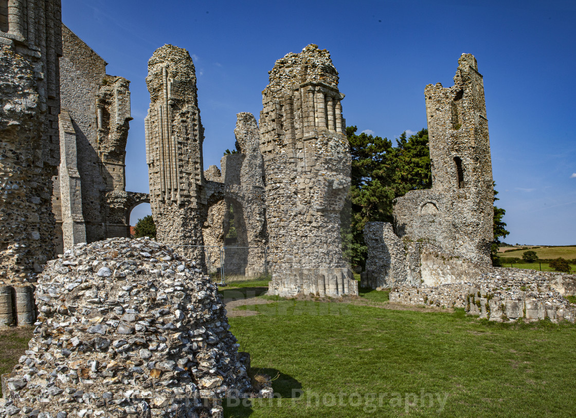 """abandoned monastery, North Norfolk"" stock image"