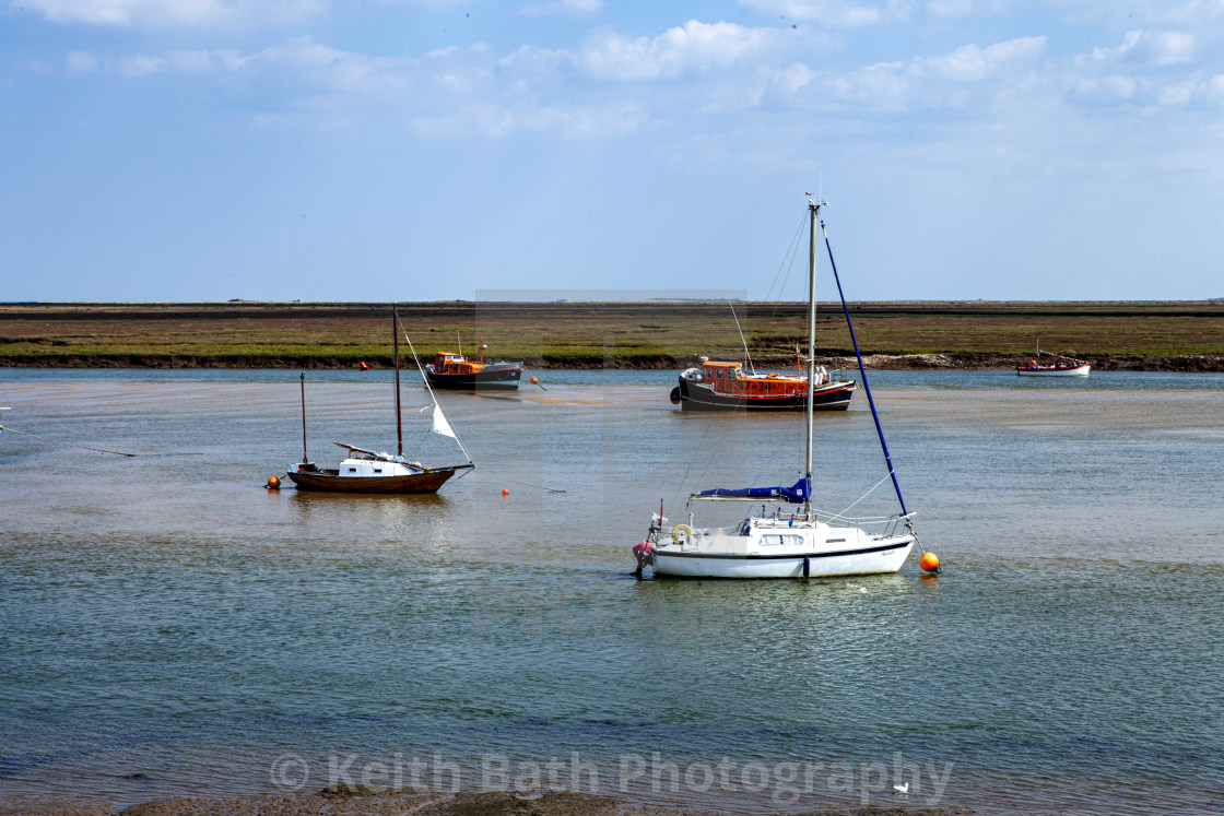 """Boats At Wells Next The Sea"" stock image"