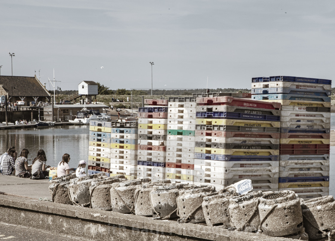 """""""The harbour at Wells Norfolk"""" stock image"""