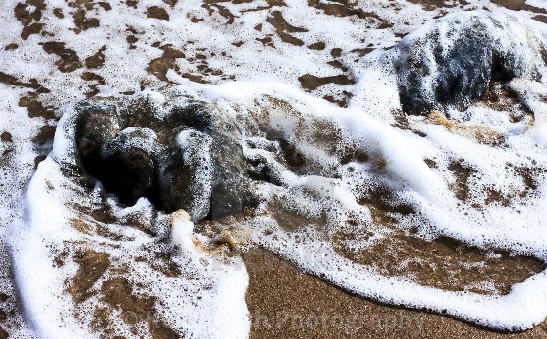 """Beach at Cromer"" stock image"