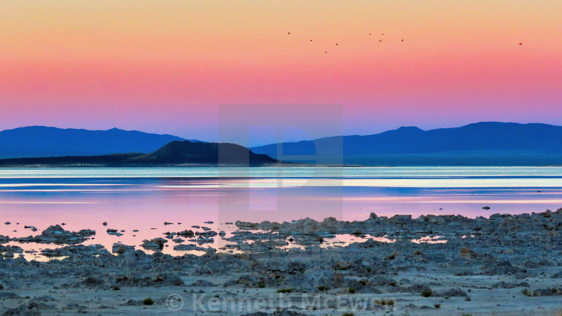 """Mono Lake sunset"" stock image"