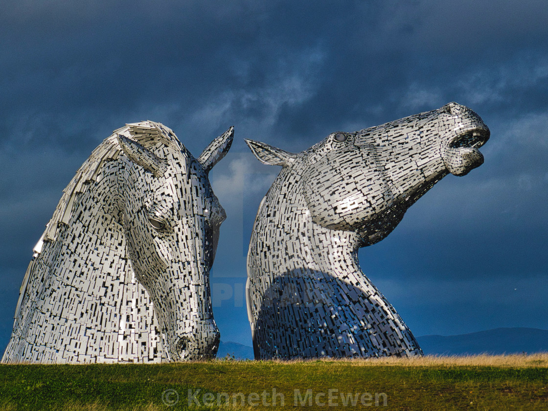 """The Kelpies equine sculpture"" stock image"