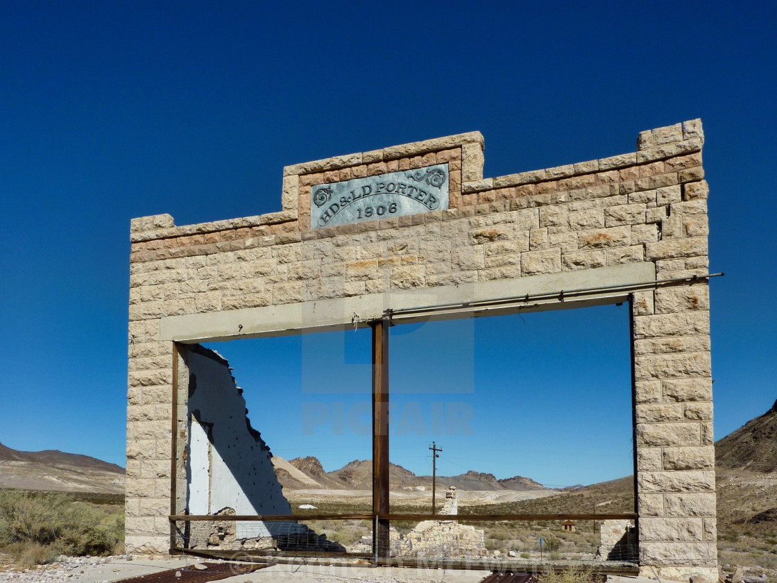 """""""Rhyolite Ghost Town"""" stock image"""