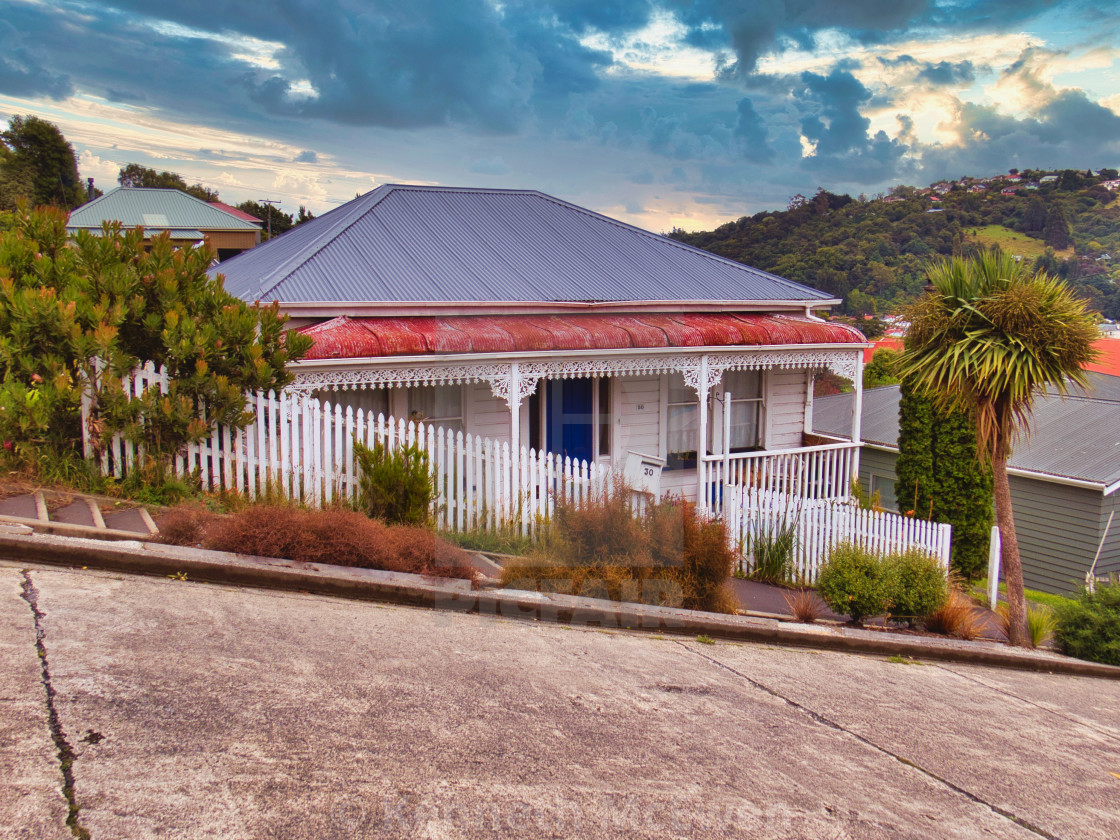 """""""The world's steepest street"""" stock image"""