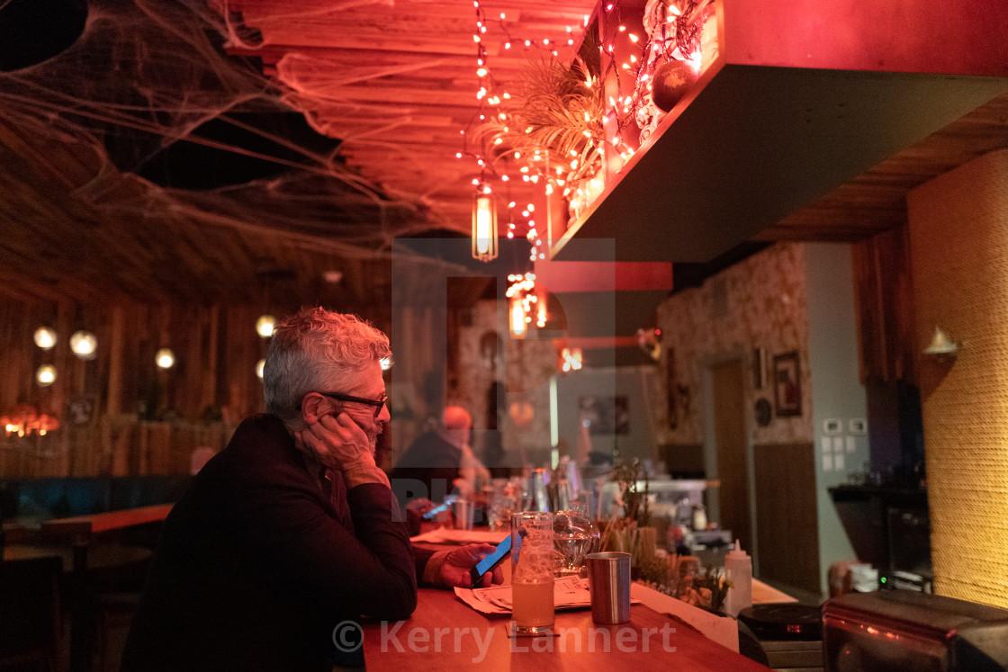 """""""At the Bar"""" stock image"""