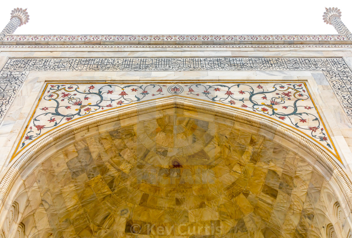 """Taj Mahal detail 1"" stock image"