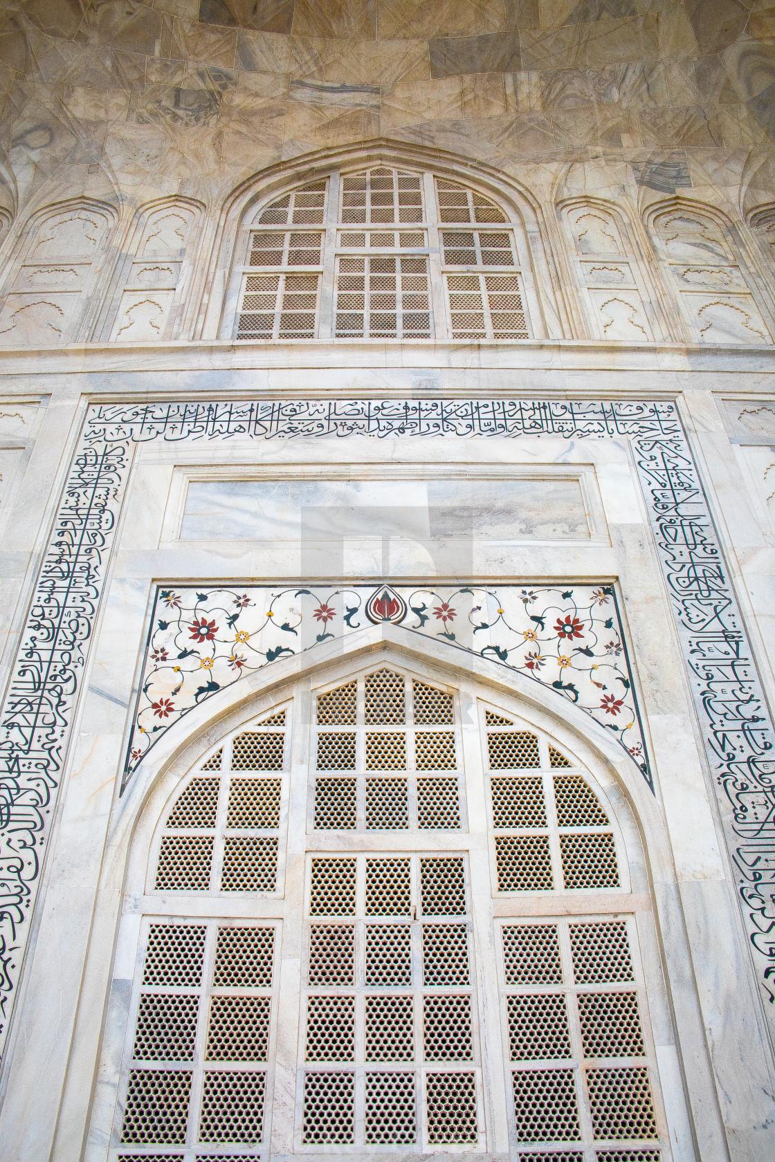 """Taj Mahal detail 3"" stock image"