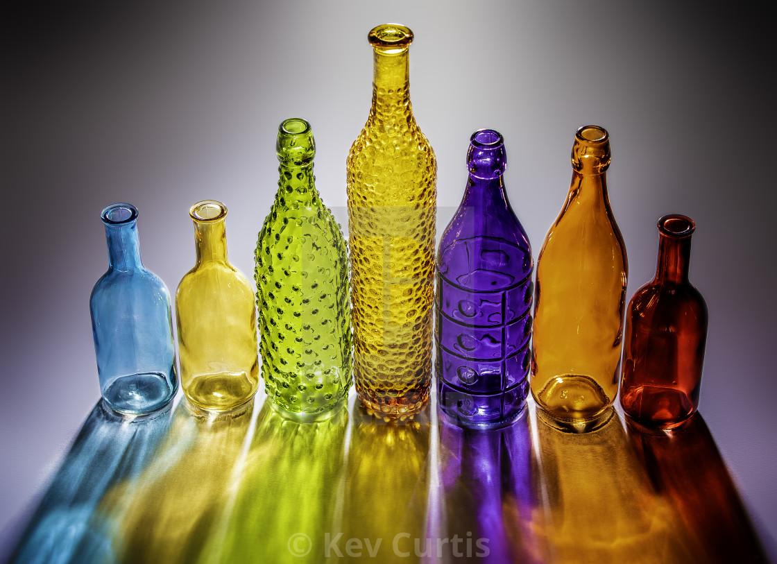 """""""Coloured glass bottles 1"""" stock image"""