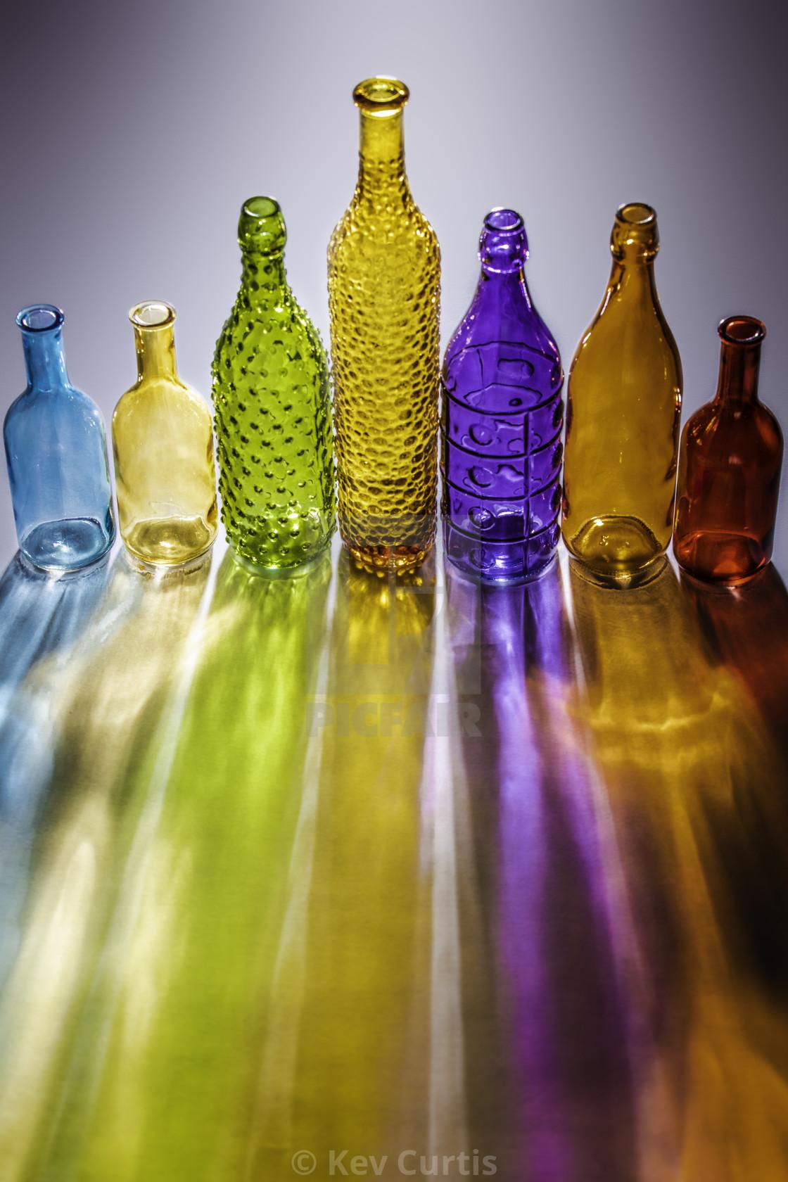 """""""Coloured glass bottles 2"""" stock image"""