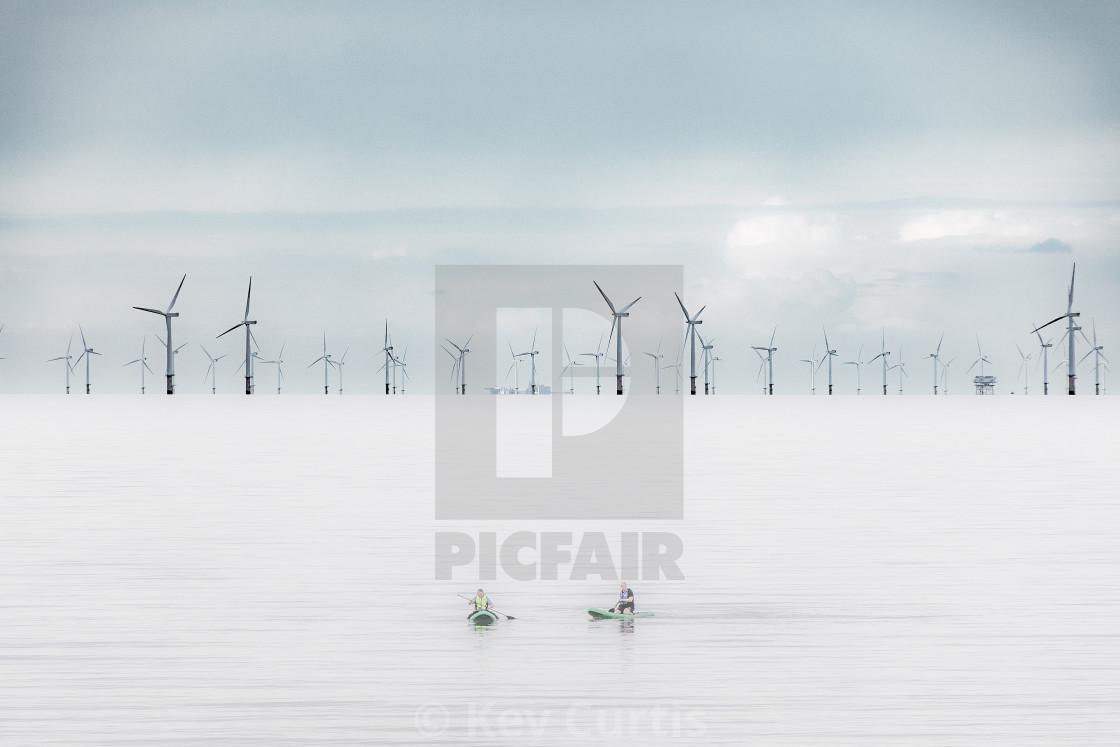 """Windfarm Horizon 1"" stock image"