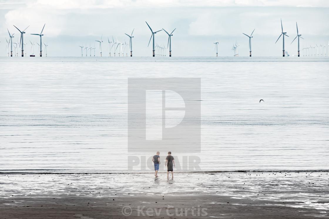 """Windfarm Horizon 2"" stock image"