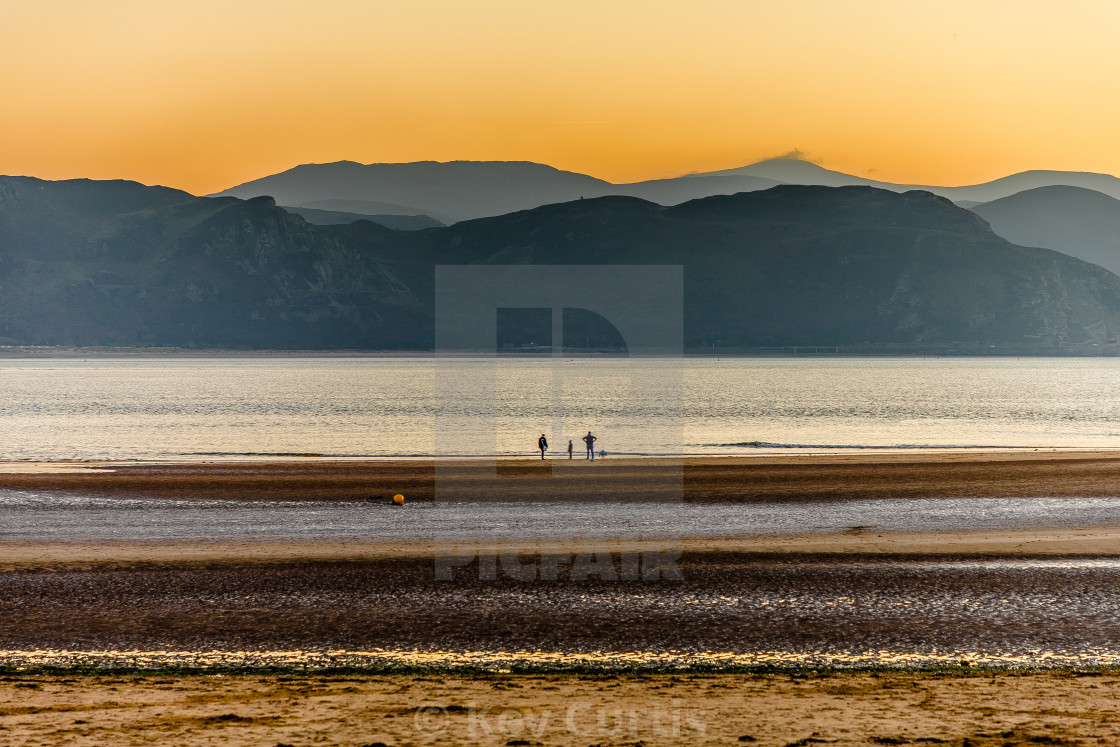 """West Shore, Llandudno at dusk"" stock image"