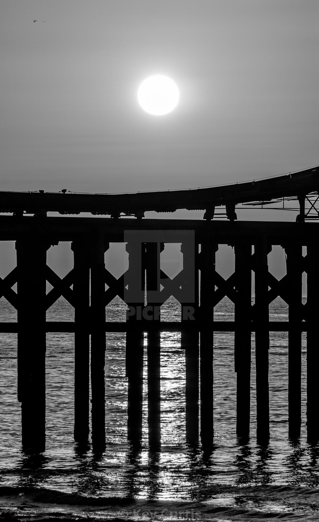 """Monochrome sunset"" stock image"