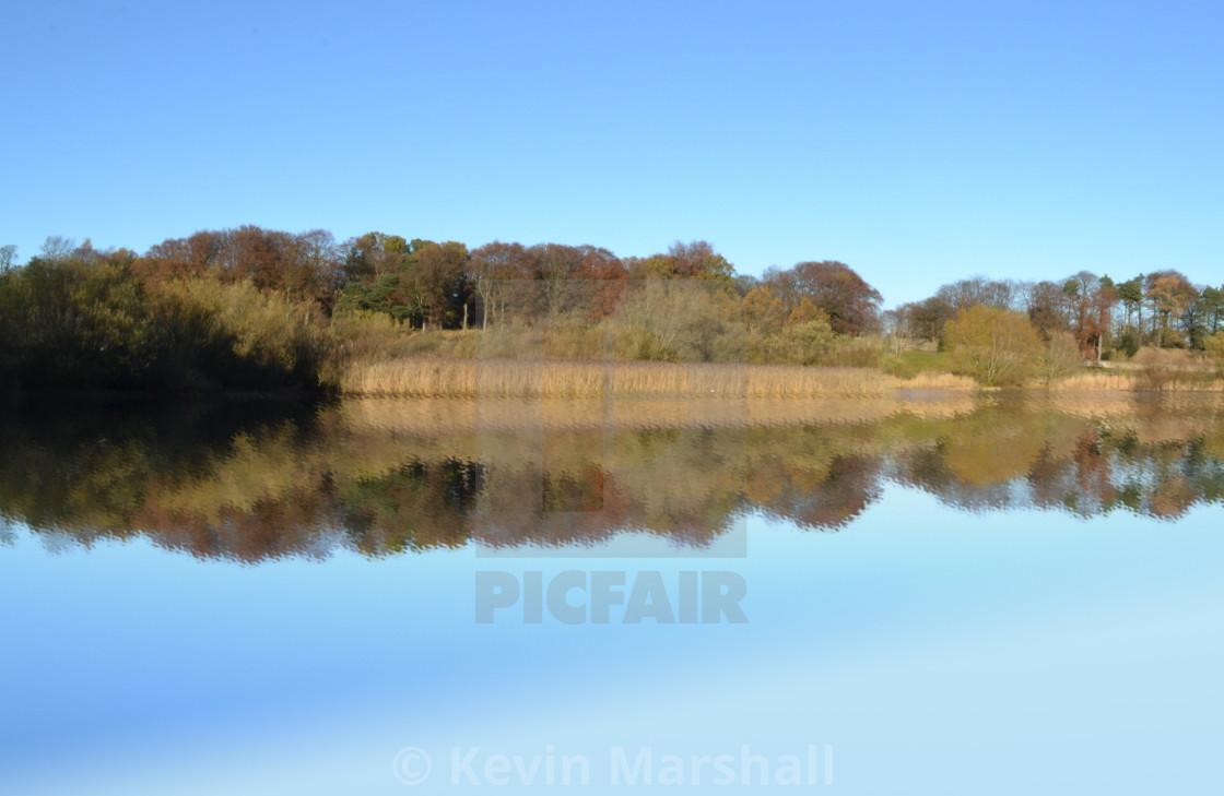 """Mirrored Loch"" stock image"
