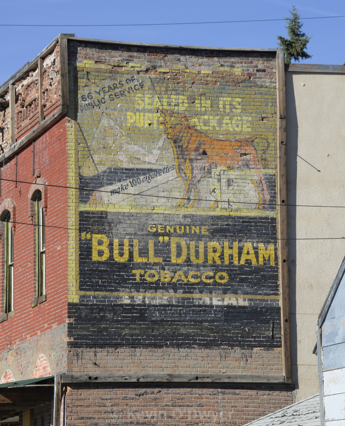 """Bull Durham tobacco"" stock image"