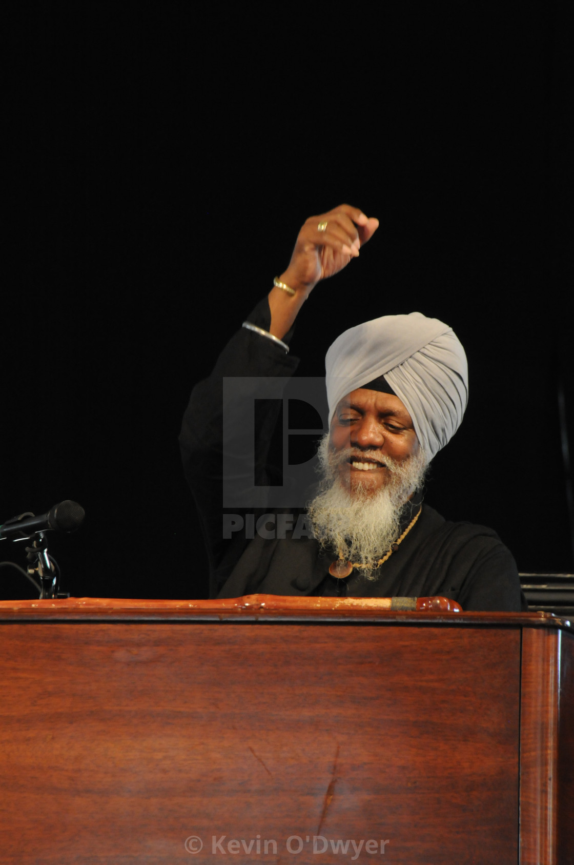 """Lonnie Smith at Jazz Fest"" stock image"