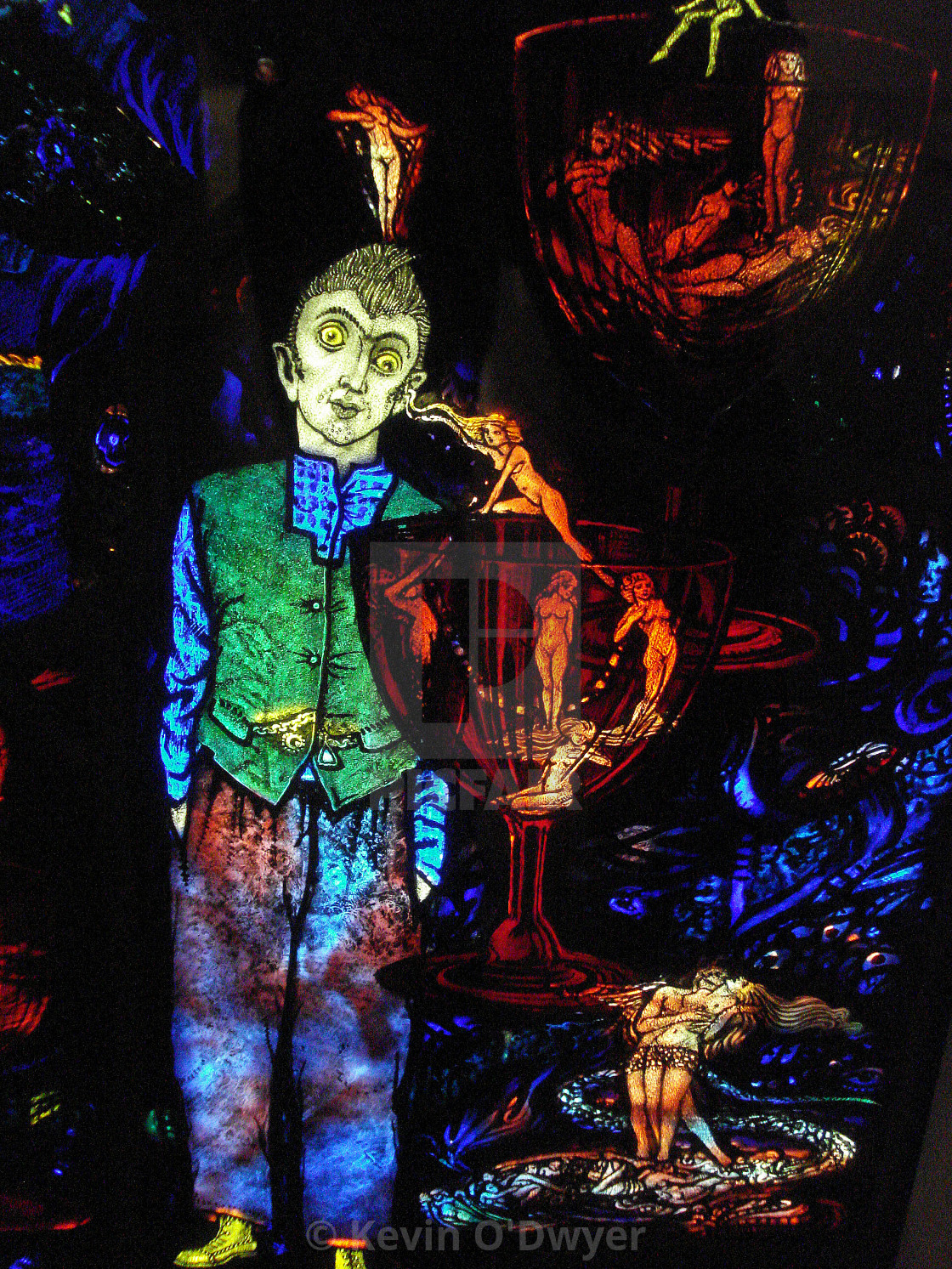 """The Geneva Window, stained glass artist Harry Clarke"" stock image"