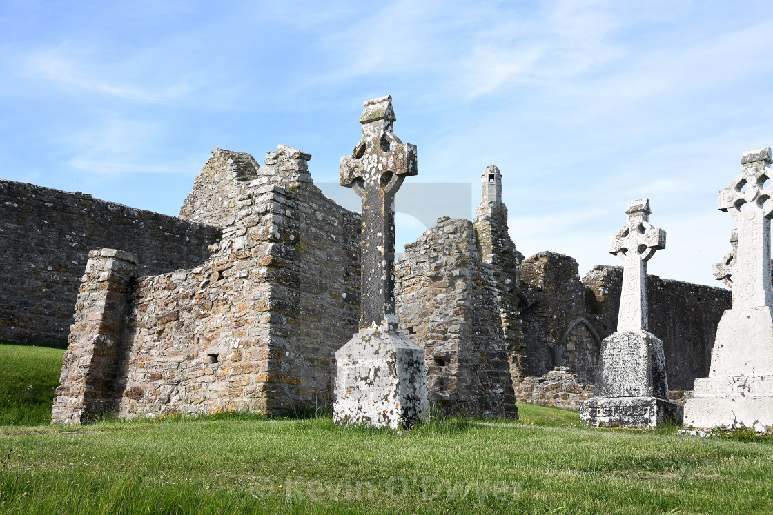 """Clonmacnoise Monastery, County Offaly"" stock image"