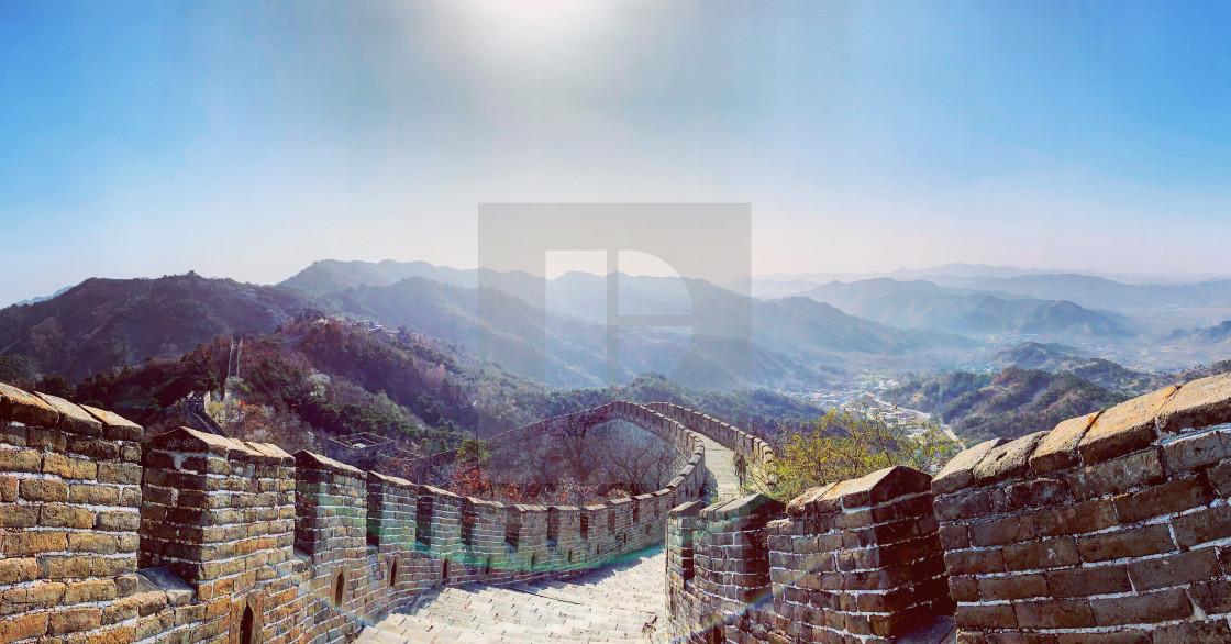 """China's Endless Wall"" stock image"