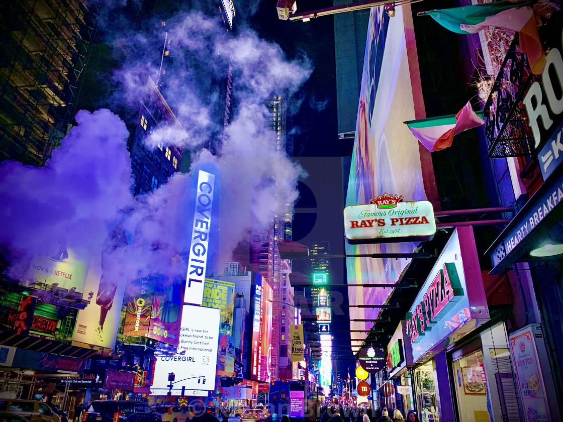"""""""Smokey Broadway Blues"""" stock image"""