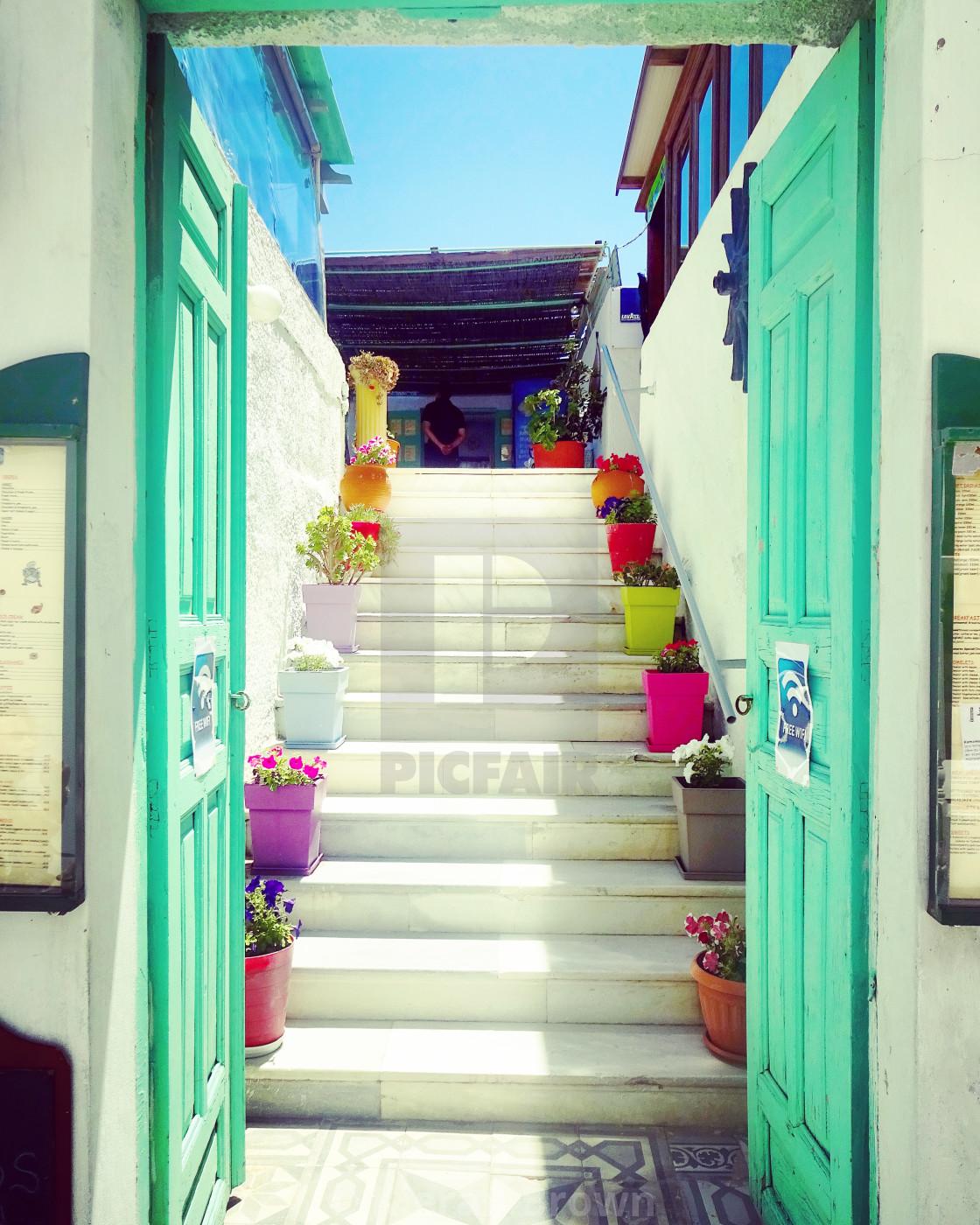 """""""Santorini Doorway"""" stock image"""