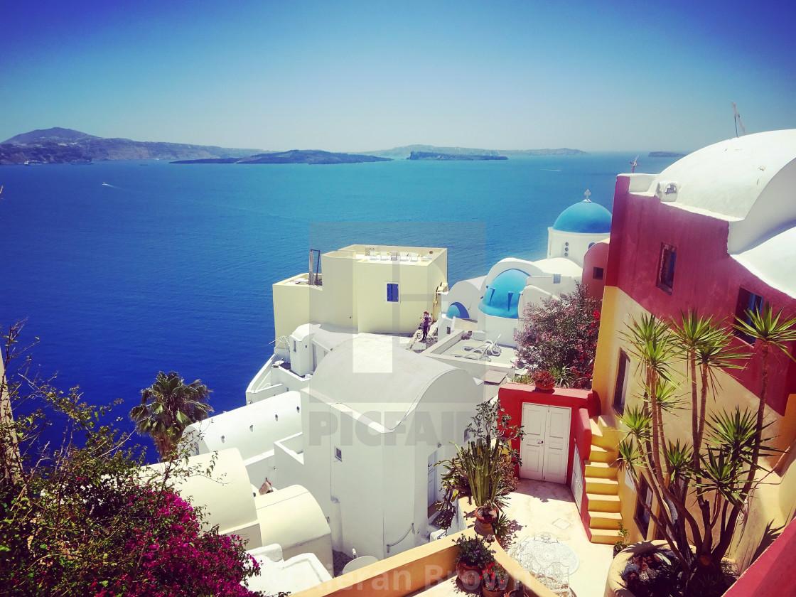 """""""Santorini Bliss"""" stock image"""