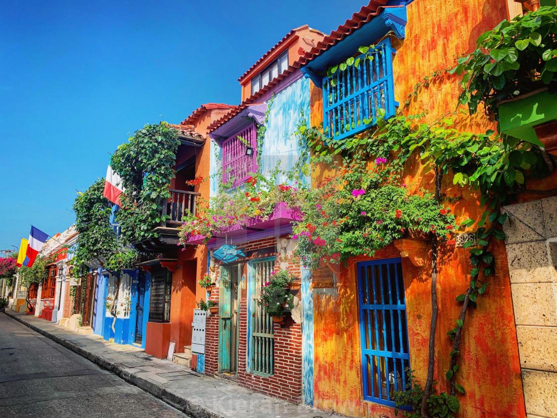 """Cartagena Colours"" stock image"