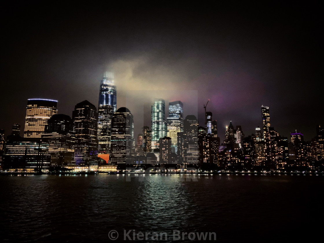 """Manhattan Misty Night"" stock image"