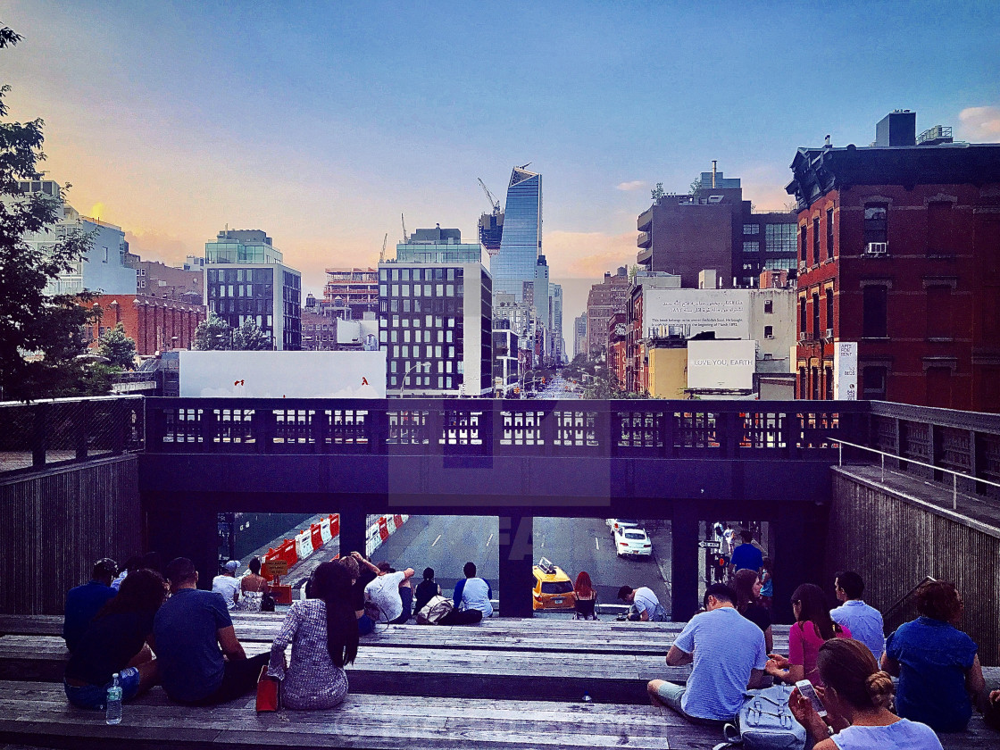 """""""Highline Viewpoint"""" stock image"""