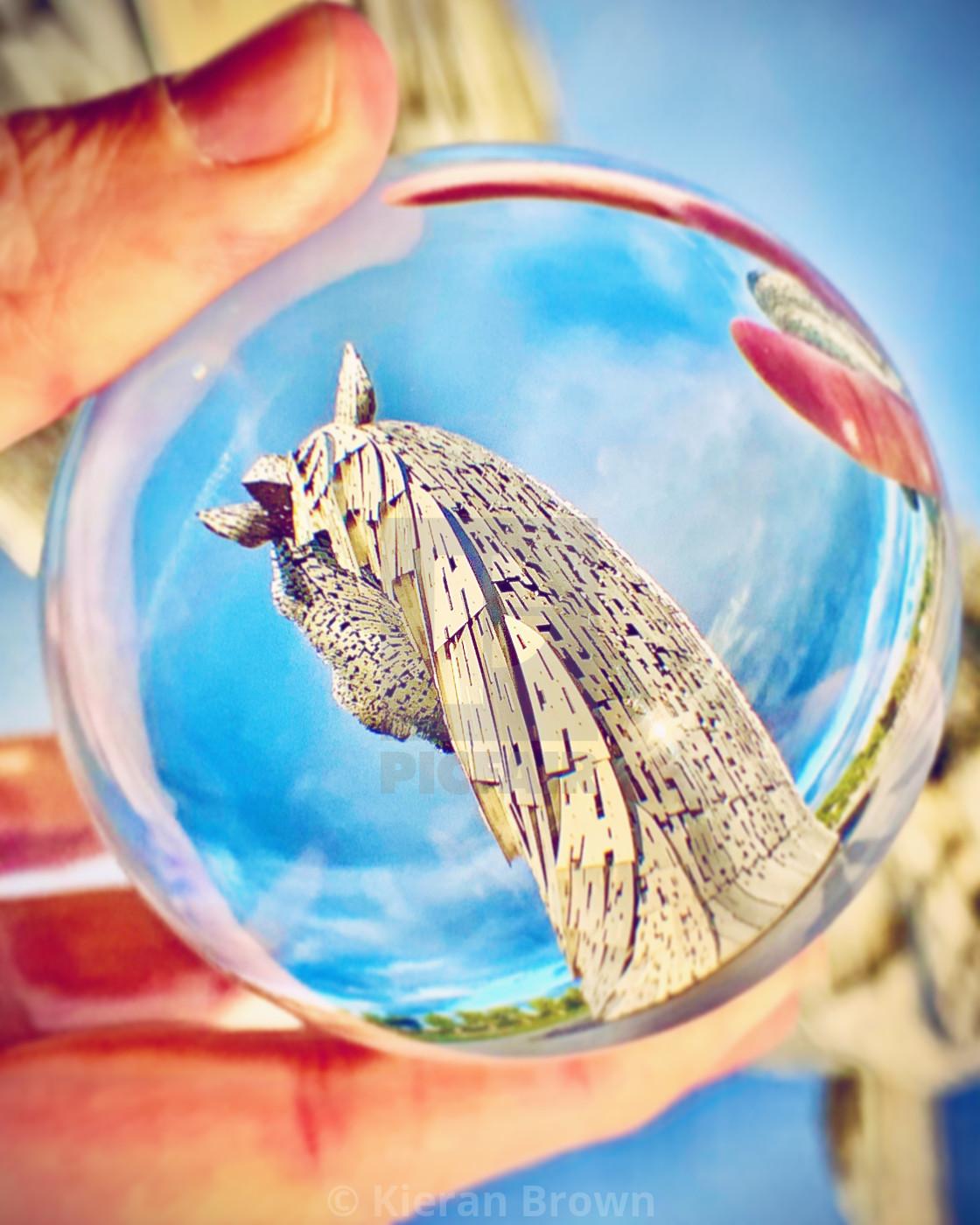 """Rear Kelpies View Sphere"" stock image"