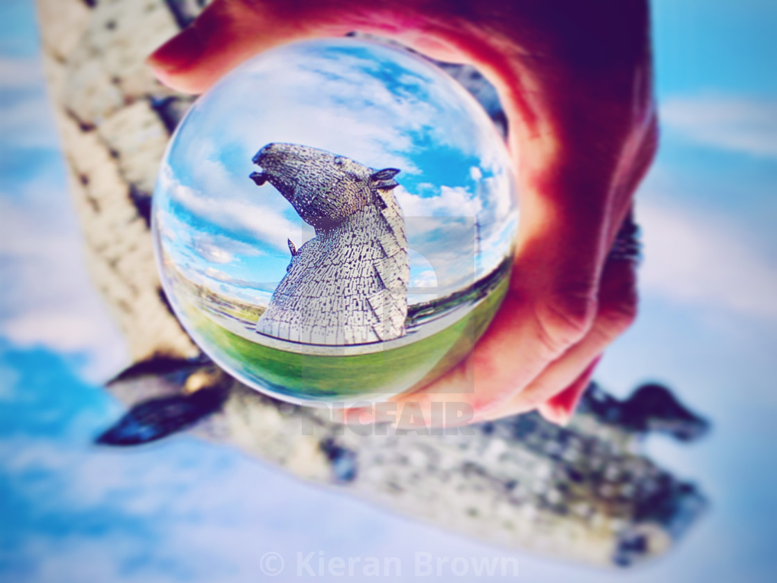 """Hand Help Kelpies Zoom"" stock image"