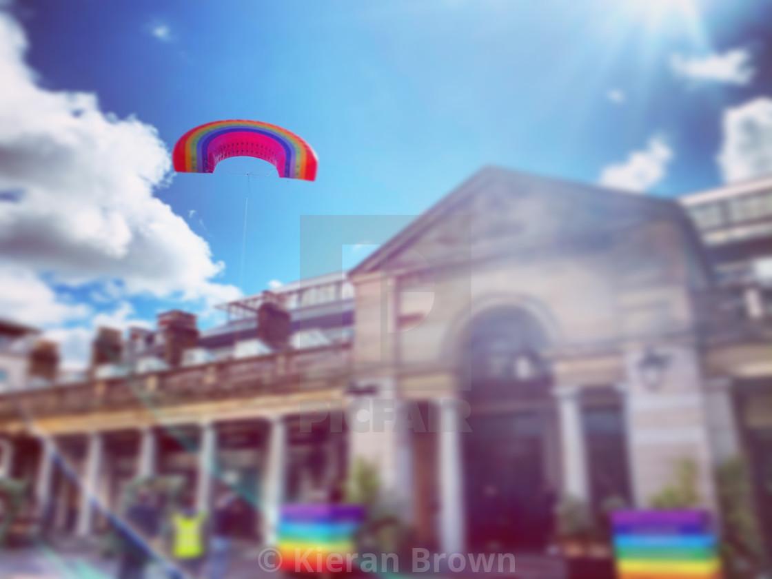 """Rainbow Sun Sky"" stock image"