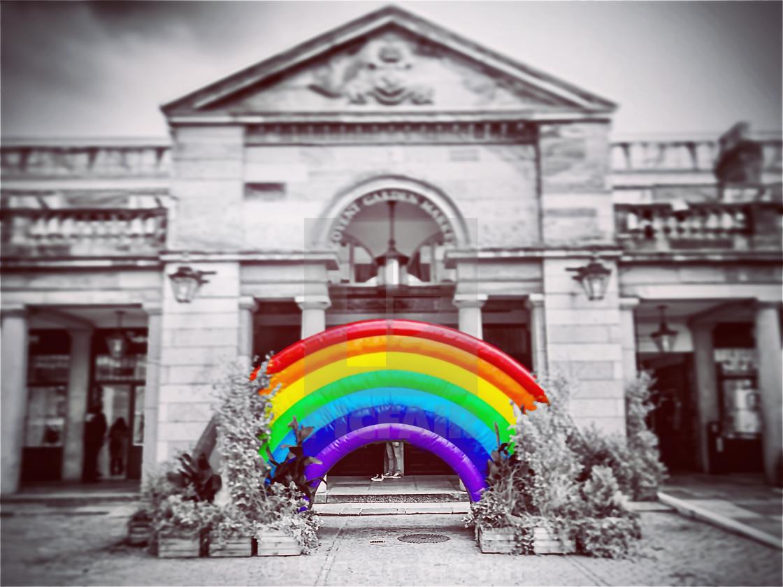 """Rainbow Splash Covent Garden"" stock image"