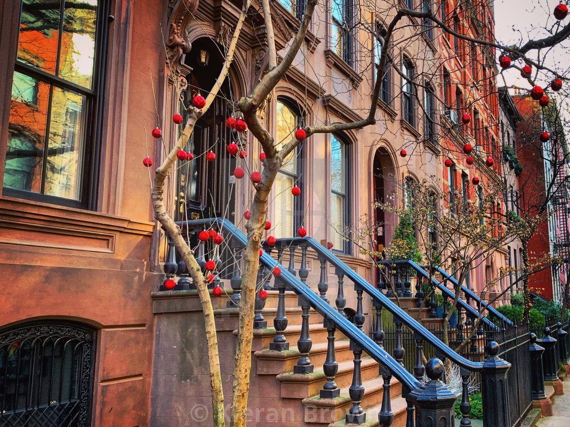 """New York Brownstones"" stock image"