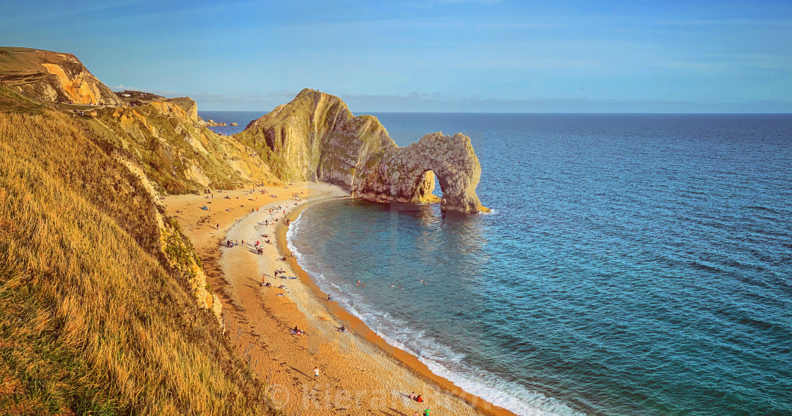 """Durdle Door Sands"" stock image"