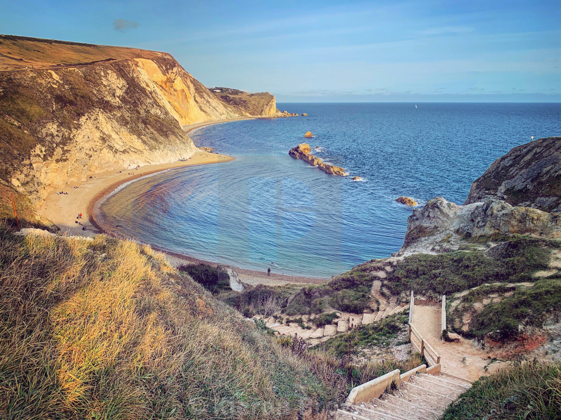 """Durdle Door Cove"" stock image"