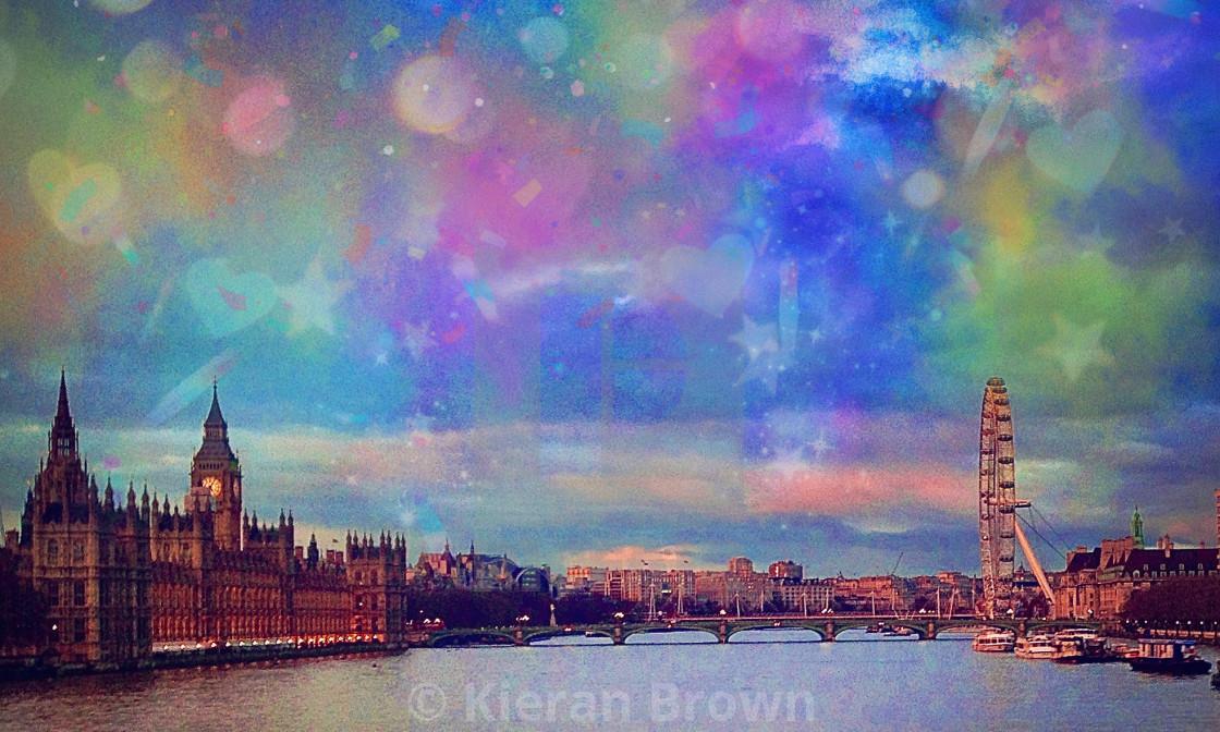 """Dreamy Sky London"" stock image"