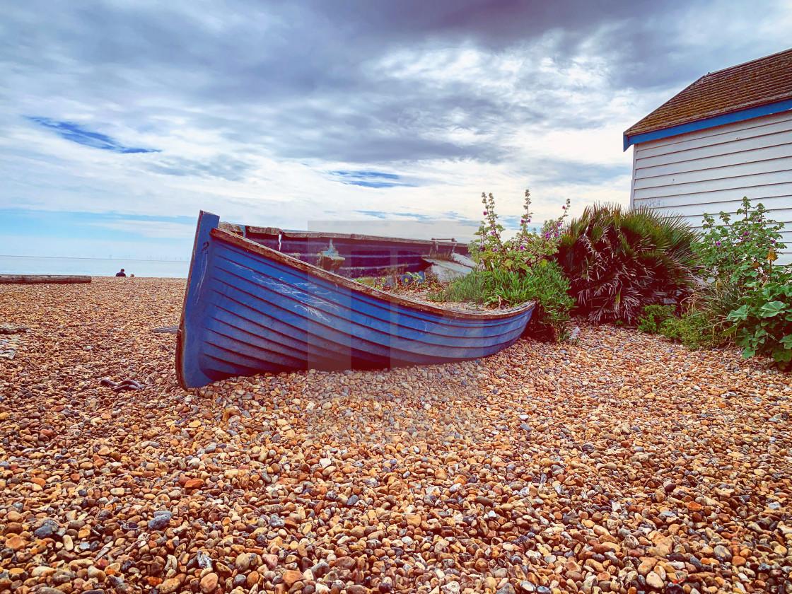 """Brighton Beach Boat"" stock image"